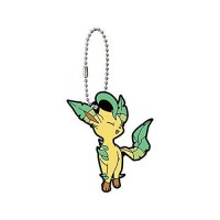 01-36243 Pokemon Sleeping Eevee Evolution Capsule Rubber Mascot Ver. 2 300y - Leafeon