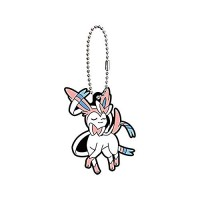 01-36243 Pokemon Sleeping Eevee Evolution Capsule Rubber Mascot Ver. 2 300y - Sylveon