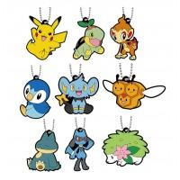 02-41765 Pokemon Sun & Moon Capsule Rubber Mascot Part 10 300y - Set of 9