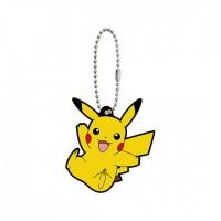02-41765 Pokemon Sun & Moon Capsule Rubber Mascot Part 10 300y - Pikachu