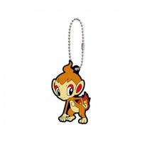 02-41765 Pokemon Sun & Moon Capsule Rubber Mascot Part 10 300y - Chimchar