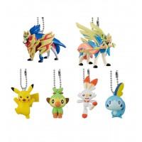 02-41769 Pokemon Sword and Shield Mini Figure Mascot Swing Key chain  300y - Set of 6
