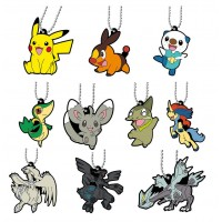01-47327 Pokemon Capsule Rubber Mascot Pt 12 300y - Set of 10