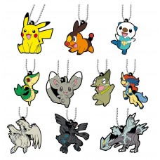 01-47327 Pokemon Capsule Rubber Mascot Pt 12 300y - Set of 10