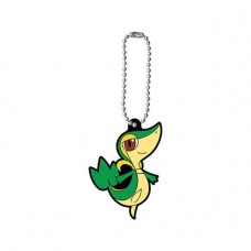 01-47327 Pokemon Capsule Rubber Mascot Pt 12 300y - Snivy (Tsutarja)