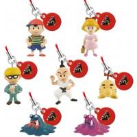 02-81226 Mother 2 (Earthbound) Mini Mascot Strap Swinger 200y - Set of 7