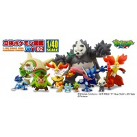 02-81541 1/40 Scale Pokemon Zukan Figures Collection 3D Encyclopedia Pokemon XY 02 300y - Set of 4