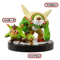 02-81541 1/40 Scale Pokemon Zukan Figures Collection 3D Encyclopedia Pokemon XY 02 300y - Chespin : Quilladin : Chesnaught