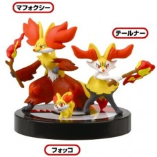 02-81541 1/40 Scale Pokemon Zukan Figures Collection 3D Encyclopedia Pokemon XY 02 300y - Fennekin : Braixen : Delphox