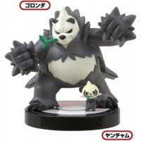 02-81541 1/40 Scale Pokemon Zukan Figures Collection 3D Encyclopedia Pokemon XY 02 300y - Pancham :  Pangoro