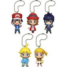 02-83879 Pokemon Pocket Monster XY&Z Deformed Figure Series Mini Trainer Mascot  Keychain / Swing 300y - Set of 5