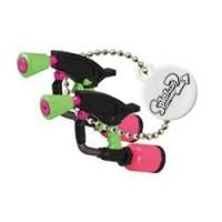 02-85660 Takara TOMY A.R.T.S Splatoon 2 Buki Mascot Mini Weapons Keychain 200y  - Splat Dualies [Neon Pink)