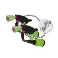 02-85660 Takara TOMY A.R.T.S Splatoon 2 Buki Mascot Mini Weapons Keychain 200y  - Splat Dualies [Neon Green)