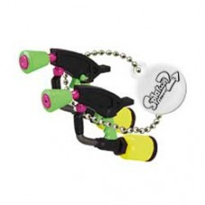 02-85660 Takara TOMY A.R.T.S Splatoon 2 Buki Mascot Mini Weapons Keychain 200y  - Splat Dualies [Neon Yellow)