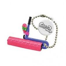 02-85660 Takara TOMY A.R.T.S Splatoon 2 Buki Mascot Mini Weapons Keychain  200y - Splat Roller [Neon Pink)