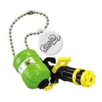 02-85660 Takara TOMY A.R.T.S Splatoon 2 Buki Mascot Mini Weapons Keychain  200y - Heavy Splatling Barrel Spinner [Neon Green)