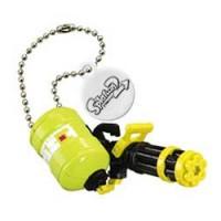 02-85660 Takara TOMY A.R.T.S Splatoon 2 Buki Mascot Mini Weapons Keychain  200y - Heavy Splatling Barrel Spinner [Neon Yellow)