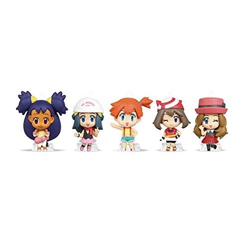 Pokemon Key chain figure Deformed mini Kasumi Haruka Hikari Iris Serena