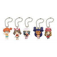 02-85720 Pokemon Deformed Figure Series Girl Trainers Special Figure Mascot / Key Chain  300y - Set of 5