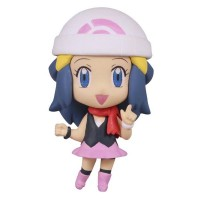02-85720 Pokemon Deformed Figure Series Girl Trainers Special Figure Mascot / Key Chain  300y - Hikari (Dawn)