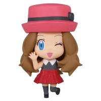 02-85720 Pokemon Deformed Figure Series Girl Trainers Special Figure Mascot / Key Chain  300y - Serena