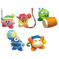 02-86161 Takara TOMY A.R.T.S Kirby's Adventure  Deluxe  Battle Royale  Manmaru Mini Figure Mascot 200y - Set of 5