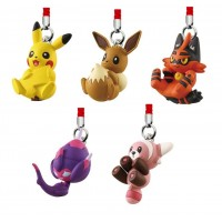02-87023 Pokemon Sun & Moon Manmaru Netsuke Mascot 200y - Set of 5