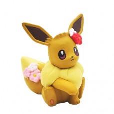 02-87249 Pokemon Let's Go  Pikachu and Eevee Adventure Mini Figure Collection 300y - Eevee Flower