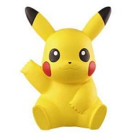 02-87252 Pokemon Sun & Moon Soft Vinyl Sofubi Figure 300y - Pikachu