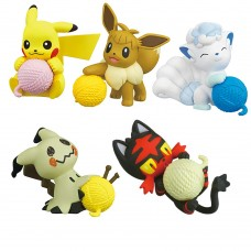 02-87298 Pokemon Sun & Moon  Nuku Nuku Yarn Ball Warm/Snugly Time 200y - Set of 5