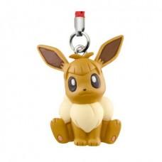 02-87309 Pokemon Netsuke Sun & Moon Mascot Strap Part 3 200y - Eevee