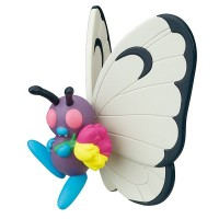 02-87420  Pokemon Sun & Moon Pokapoka Biyori Ideal Warm Day Flower Themed Mini Figure 300y - Butterfree