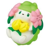 02-87420  Pokemon Sun & Moon Pokapoka Biyori Ideal Warm Day Flower Themed Mini Figure 300y - Shaymin