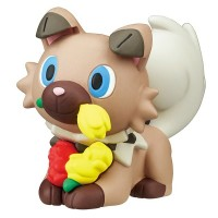 02-87420  Pokemon Sun & Moon Pokapoka Biyori Ideal Warm Day Flower Themed Mini Figure 300y - Rockruff