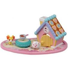 02-49265  Pocket Monster XY  Pokemon Pita Poke PPM-05 Candy Town House - Fennekin & Swirliz 2000y