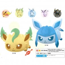 02-38362 Banpresto Pocket Monster Sun & Moon  Kororin Friends DX Plush Collection - Leafeon / Glaceon Eevee