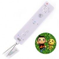 02-97944 Animal Crossing Mini Wii Remote Controller Keychain Light Projector - Boy & Goldie