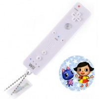 02-97944 Animal Crossing Mini Wii Remote Controller Keychain Light Projector - Girl & Bouquet
