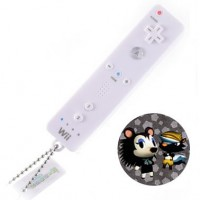 02-97944 Animal Crossing Mini Wii Remote Controller Keychain Light Projector - Mabel & Badger
