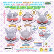 02-29335 Pokemon pocket Monsters Tea Cup time Mascot Figure Vol. 5 300y [PREORDER: JULY 2018]