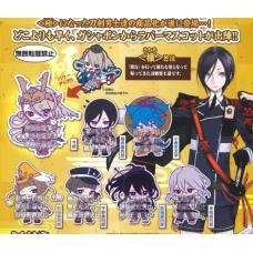 01-24439 Bandai  Touken Ranbu Online Capsule Rubber Mascot Kiwame  300y - Set of 7