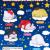 SR-86160 Takara TOMY A.R.T.S Sanrio Characters Oyasumi (Good Night) Mascot 200y - Set of 5