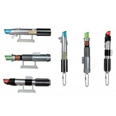 CM-20143 Bandai  Star Wars Light Saber Keychain 500y - Set of 6