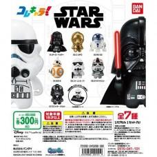 CM-20151 Bandai Star Wars Kore Chara!Collection Characters Gashapon Mini SD Figure 300y - Set of 7