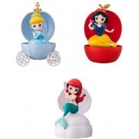 CM-41955 Disney Princess Capchara  Heroine Doll Stories Capsule Figure Collection 500y - Set of 3