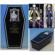 M34160 The Nightmare Before Christmas Jack Skellington Jumbo plush with Coffin Box *! special buy