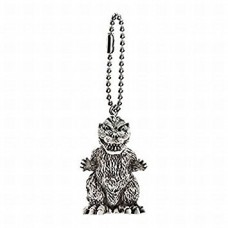 M1-11284 Toho Monsters Godzilla Mini SD Figure (Monochrome) Keychain Mascot - Godzilla