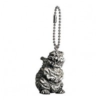 M1-11284 Toho Monsters Godzilla Mini SD Figure (Monochrome) Keychain Mascot - Godzilla 2016