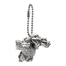 M1-11284 Toho Monsters Godzilla Mini SD Figure (Monochrome) Keychain Mascot - King Ghidorah