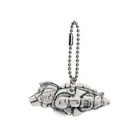 M1-11284 Toho Monsters Godzilla Mini SD Figure (Monochrome) Keychain Mascot - Mecha Godzilla 1993